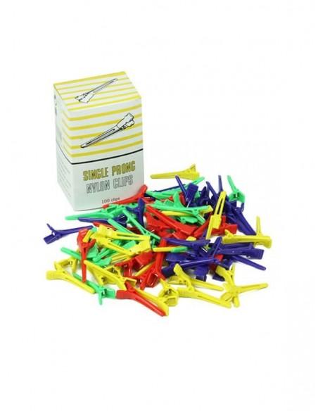 Clipsuri colorate păr – set 100 bucăți