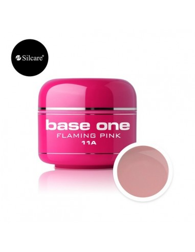 Gel uv Base One Color Red Ros Flaming Pink 5g