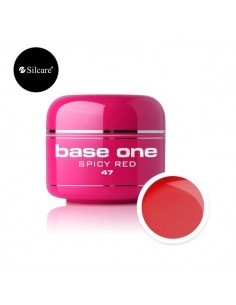 Gel uv Color Base One Silcare Clasic Spicy Red